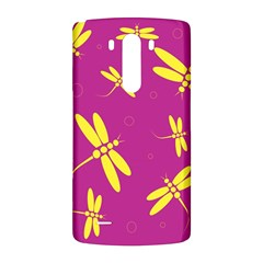 Purple and yellow dragonflies pattern LG G3 Back Case