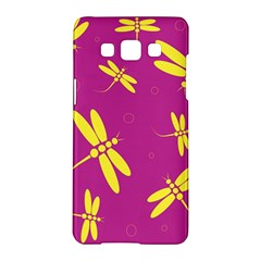 Purple and yellow dragonflies pattern Samsung Galaxy A5 Hardshell Case