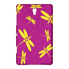 Purple and yellow dragonflies pattern Samsung Galaxy Tab S (8.4 ) Hardshell Case