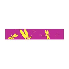 Purple and yellow dragonflies pattern Flano Scarf (Mini)