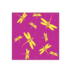 Purple and yellow dragonflies pattern Satin Bandana Scarf