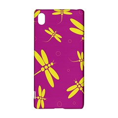 Purple and yellow dragonflies pattern Sony Xperia Z3+
