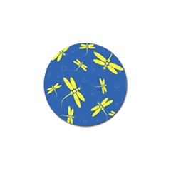 Blue and yellow dragonflies pattern Golf Ball Marker (10 pack)