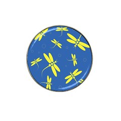 Blue and yellow dragonflies pattern Hat Clip Ball Marker (10 pack)