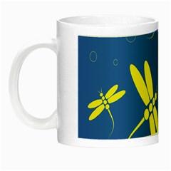 Blue and yellow dragonflies pattern Night Luminous Mugs