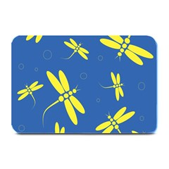 Blue and yellow dragonflies pattern Plate Mats