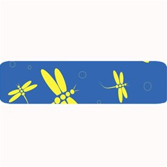 Blue and yellow dragonflies pattern Large Bar Mats