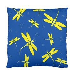 Blue and yellow dragonflies pattern Standard Cushion Case (Two Sides)