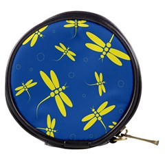 Blue and yellow dragonflies pattern Mini Makeup Bags
