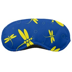 Blue and yellow dragonflies pattern Sleeping Masks