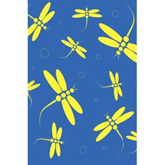 Blue and yellow dragonflies pattern 5.5  x 8.5  Notebooks