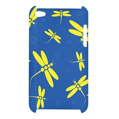 Blue and yellow dragonflies pattern Apple iPod Touch 4