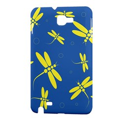 Blue and yellow dragonflies pattern Samsung Galaxy Note 1 Hardshell Case