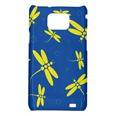 Blue and yellow dragonflies pattern Samsung Galaxy S2 i9100 Hardshell Case
