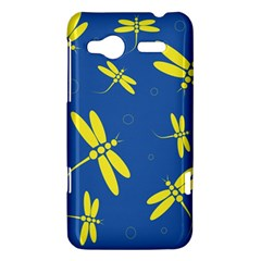 Blue and yellow dragonflies pattern HTC Radar Hardshell Case