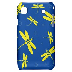 Blue and yellow dragonflies pattern Samsung Galaxy S i9000 Hardshell Case
