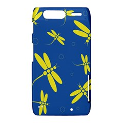Blue and yellow dragonflies pattern Motorola Droid Razr XT912