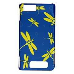 Blue and yellow dragonflies pattern Motorola DROID X2