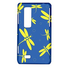 Blue and yellow dragonflies pattern LG Optimus Thrill 4G P925