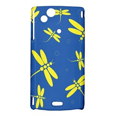 Blue and yellow dragonflies pattern Sony Xperia Arc