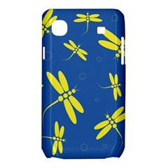 Blue and yellow dragonflies pattern Samsung Galaxy SL i9003 Hardshell Case
