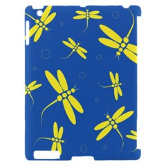 Blue and yellow dragonflies pattern Apple iPad 2 Hardshell Case (Compatible with Smart Cover)