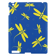Blue and yellow dragonflies pattern Apple iPad 3/4 Hardshell Case