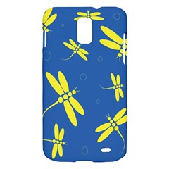 Blue and yellow dragonflies pattern Samsung Galaxy S II Skyrocket Hardshell Case