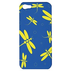 Blue and yellow dragonflies pattern Apple iPhone 5 Hardshell Case