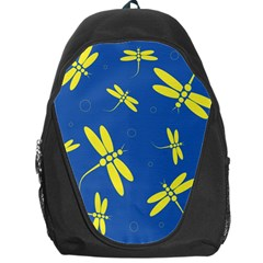 Blue and yellow dragonflies pattern Backpack Bag