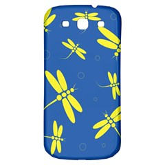 Blue and yellow dragonflies pattern Samsung Galaxy S3 S III Classic Hardshell Back Case