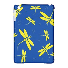 Blue and yellow dragonflies pattern Apple iPad Mini Hardshell Case (Compatible with Smart Cover)