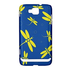 Blue and yellow dragonflies pattern Samsung Ativ S i8750 Hardshell Case