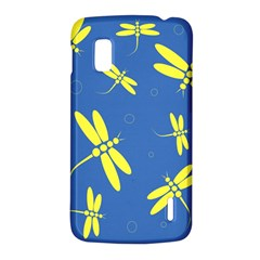 Blue and yellow dragonflies pattern LG Nexus 4
