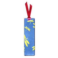 Blue and yellow dragonflies pattern Small Book Marks