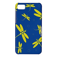Blue and yellow dragonflies pattern BlackBerry Z10