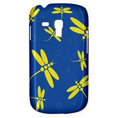 Blue and yellow dragonflies pattern Samsung Galaxy S3 MINI I8190 Hardshell Case