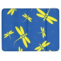 Blue and yellow dragonflies pattern Samsung Galaxy Tab 7  P1000 Flip Case