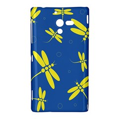 Blue and yellow dragonflies pattern Sony Xperia ZL (L35H)