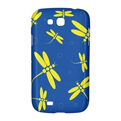 Blue and yellow dragonflies pattern Samsung Galaxy Grand GT-I9128 Hardshell Case
