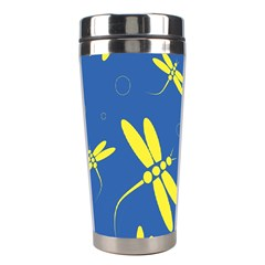Blue and yellow dragonflies pattern Stainless Steel Travel Tumblers