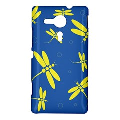Blue and yellow dragonflies pattern Sony Xperia SP