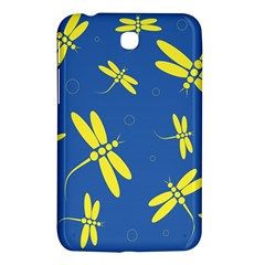 Blue and yellow dragonflies pattern Samsung Galaxy Tab 3 (7 ) P3200 Hardshell Case