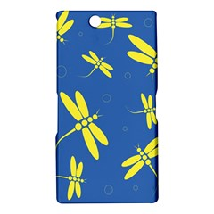 Blue and yellow dragonflies pattern Sony Xperia Z Ultra