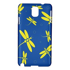 Blue and yellow dragonflies pattern Samsung Galaxy Note 3 N9005 Hardshell Case