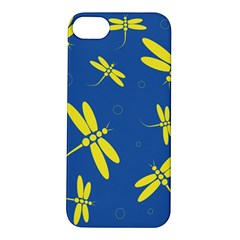 Blue and yellow dragonflies pattern Apple iPhone 5S/ SE Hardshell Case