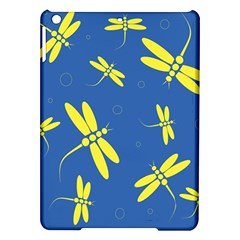 Blue and yellow dragonflies pattern iPad Air Hardshell Cases