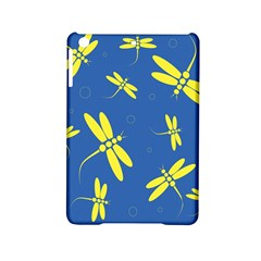 Blue and yellow dragonflies pattern iPad Mini 2 Hardshell Cases