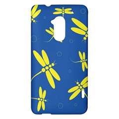 Blue and yellow dragonflies pattern HTC One Max (T6) Hardshell Case
