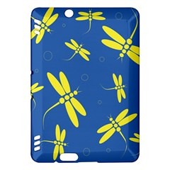 Blue and yellow dragonflies pattern Kindle Fire HDX Hardshell Case